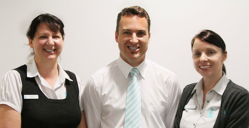 Matt and the friendly faces of our Warwick practice